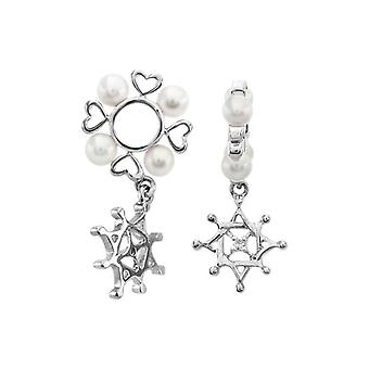 Storywheels Silver, Diamond & Pearl Star Dangle Charm S131PRL
