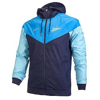 2019-2020 Zenit Nike Authentic Windrunner Jacket (Blue)