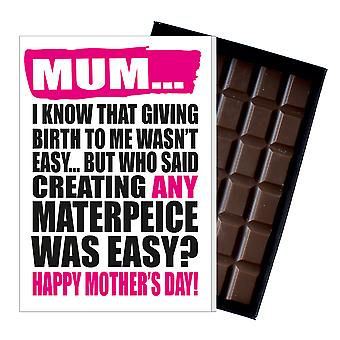 Funny Mother's Day Gift Boxed Chocolate Present Rude Greeting Card For Mom Mum Mumy MIYF123