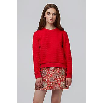 Louche Jan Honeycomb Sweat Red