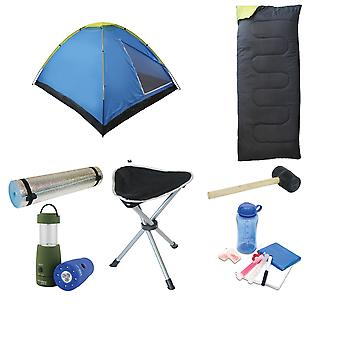 Standard Festival Pack (tent + sleeping bag + mallet + stool + torch + accessory