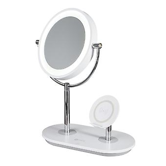 Ottlite LED Light Make-Up Mirror For Cosmetics With Magnification, Wireless Charging & USB Port
