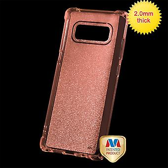 MYBAT Transparent Rose Gold Sheer Glitter Premium Candy Skin Cover  for Galaxy Note 8