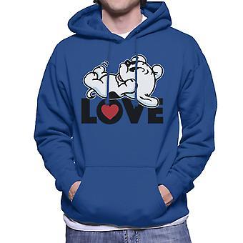 Betty Boop Pudgy Liebe Männer's Kapuzen Sweatshirt