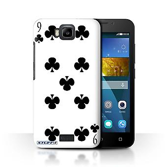 STUFF4 Case/Cover for Huawei Honor Bee/Y5c/9 of Clubs/Playing Cards