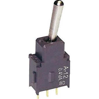 Toggle switch 28 V DC/AC 0.1 A 1 x On/On NKK Switches A12AV latch 1 pc(s)