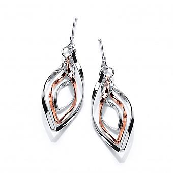 Cavendish French Silver and Copper Windchime Earrings
