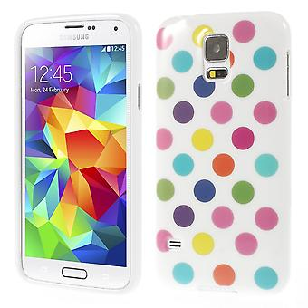 Protective case for mobile Samsung Galaxy S5 / S5 neo white/colored