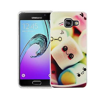 Phone case for Samsung Galaxy A3 2016 cover case protective bag motif slim silicone TPU lettering marshmallows