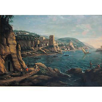 View Of The Neapolitan Coast Poster Print