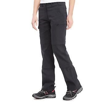 New Peter Storm Women's Stretch Double Zip Off Trousers Black