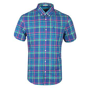 Pingouin True Blue coloré Plaid Short Sleeve Shirt