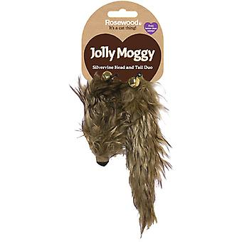 Jolly Moggy Silverine Head & Tail 2 Piece (Pack of 3)