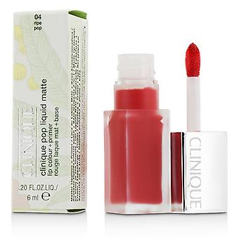 Clinique Pop Liquid Matte Lip Colour + Primer - # 04 Ripe Pop 6ml/0.2oz