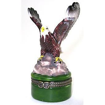 American Bald Eagle hængslet nipsting boks phb