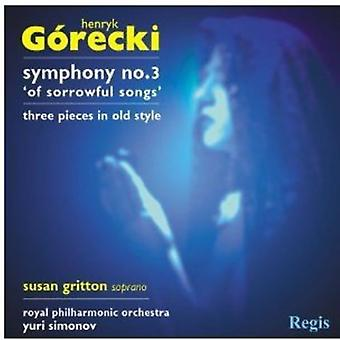 H. Gorecki - G Recki: Symphony No. 3; Three Pieces in Olden Style [CD] USA import