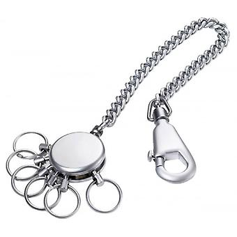 Troika Patent Chain Key Ring - Silver