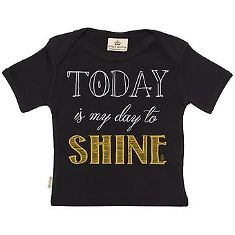 Spoilt Rotten Today Is My Day To Shine Short Sleeve Baby T-Shirt