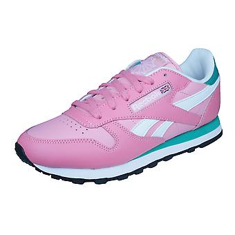 Reebok Classic Leather Seasonal II Womens Trainers / Shoes - Pink