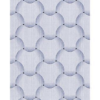Retro white blue-bright Violet Blue 5.33 m2 wallpaper EDEM 1035 12 vinyl wallpaper structured glittering with graphical pattern