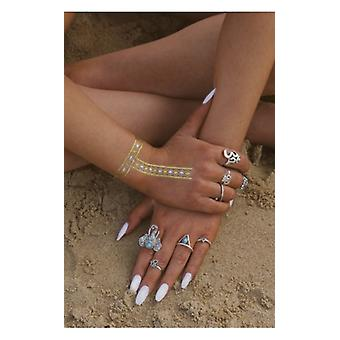 The Fashion Bible Silver Elephant Rings