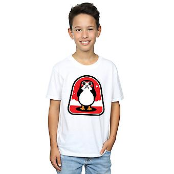 Star Wars Boys The Last Jedi Porgs Badge T-Shirt