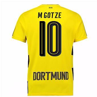 2017-18 Borussia Dortmund Home Short Sleeve Shirt (M Gotze 10)