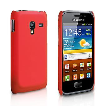 Yousave Accessories Samsung Galaxy Ace Plus Hard Back Hybrid Case - Red
