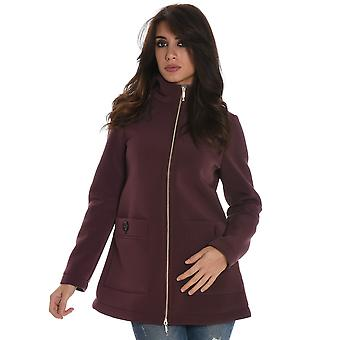 Up to be ladies EZE256 Bordeaux polyester coat