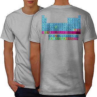 Periodic Table Men GreyT-shirt Back | Wellcoda