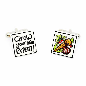 Sonia Spencer Grow Your Own Cufflinks - English Bone China Hand Crafted Cuff Links