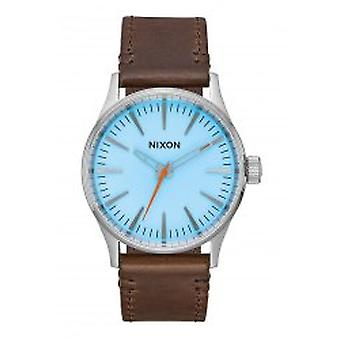 Nixon The Sentry 38 Leather Sky Blue / Taupe (A3772547)