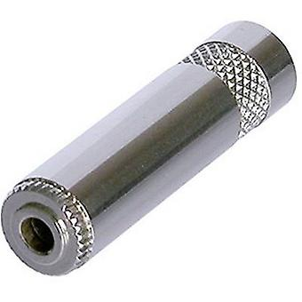 3.5 mm audio jack Socket, straight Number of pins: 3 Stereo Silver Rean AV NYS240L 1 pc(s)