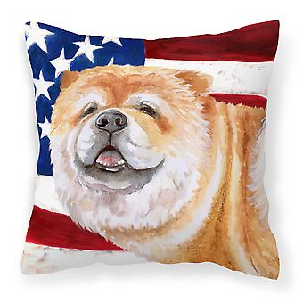 Carolines Treasures  BB9695PW1818 Cane Corso Patriotic Fabric Decorative Pillow