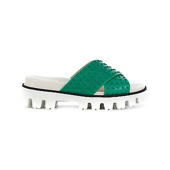 Red Valentino ladies PQ2S0A21FMSCC5 green leather sandals