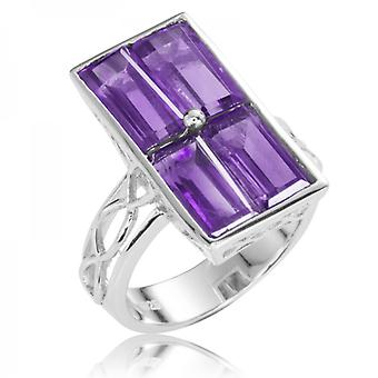Shipton and Co Ladies Shipton And Co Silver And Amethyst Ring RQA450AM