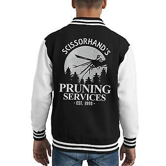 Edward Scissorhands Pruning Services Kid's Varsity Jacket