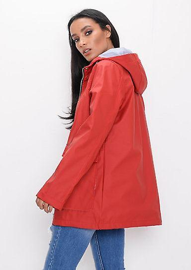 new lifestyle diversified latest designs modern techniques Waterproof Hooded Festival Rain Mac Coat Red