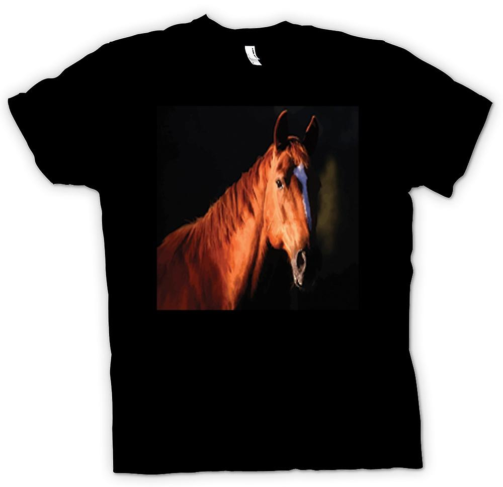 Kids T-shirt - Brown Horse Portrait