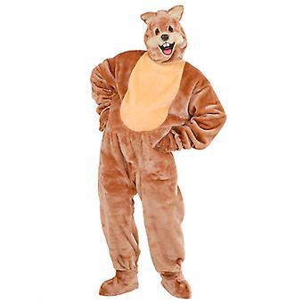 Plys egern kostume (kostume handsker sko dækker maske)