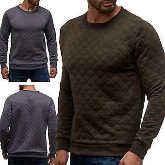 Men's pullover Sweatshirt quilted pattern sweater diamond quilted sweater