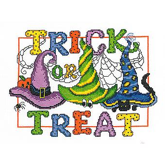 Trick Or Treat Counted Cross Stitch Kit-10.5