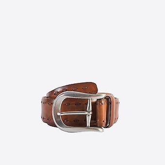 Fabio Giovanni Lesina Belt - Mens Italian Stitch Leather Belt