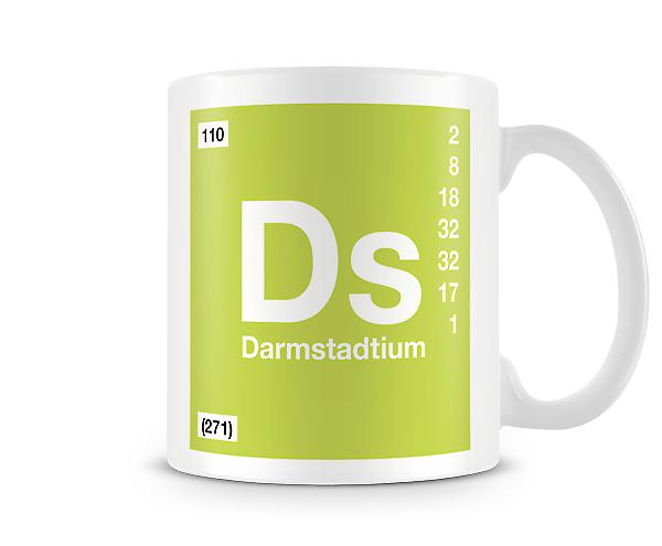 Element Symbol 110 Ds - Darmstadtium Printed Mug