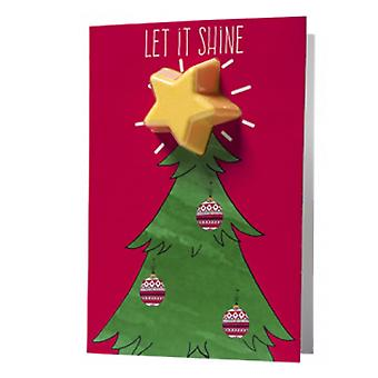 Bomb Cosmetics Bomb Cosmetics Blaster Card - Let It Shine Christmas Tree