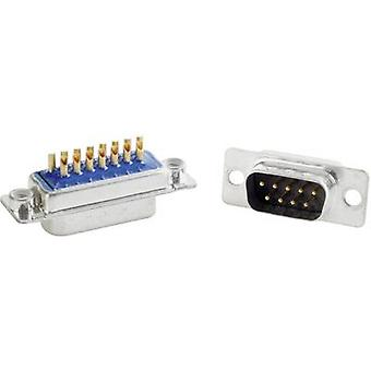 D-SUB filter 180 ° Number of pins: 9 Solder bucket Conec