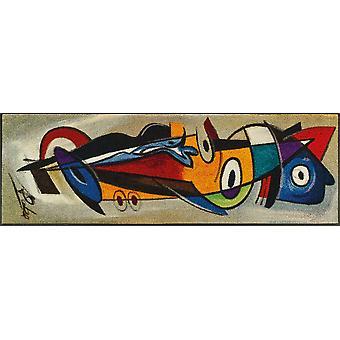 positive flow I 60 x 180 cm Alfred Gockel washable floor mat