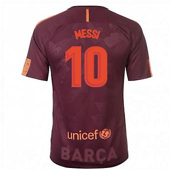 2017-18 Barcelona Nike derde Shirt (Messi 10) - Kids