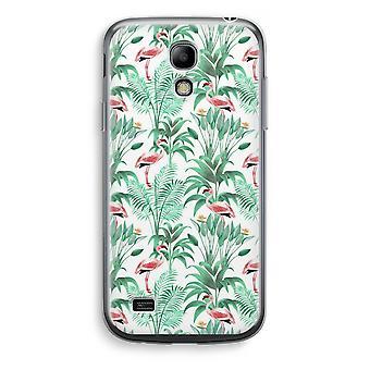 Samsung Galaxy S4 Mini Transparent Case - Flamingo leaves