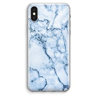 iPhone XS Max Transparent Case (Soft) - Blue marble